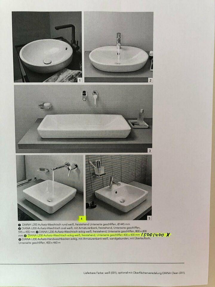 Waschbecken Freistehend Eckig