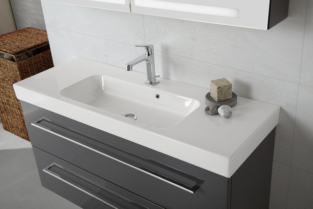 Waschbecken Grau Mit Unterschrank