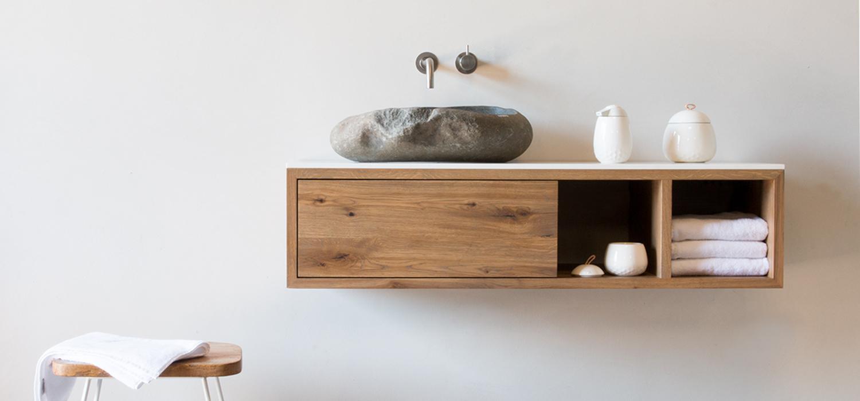 Waschbeckenunterschrank Holz Massiv Hängend