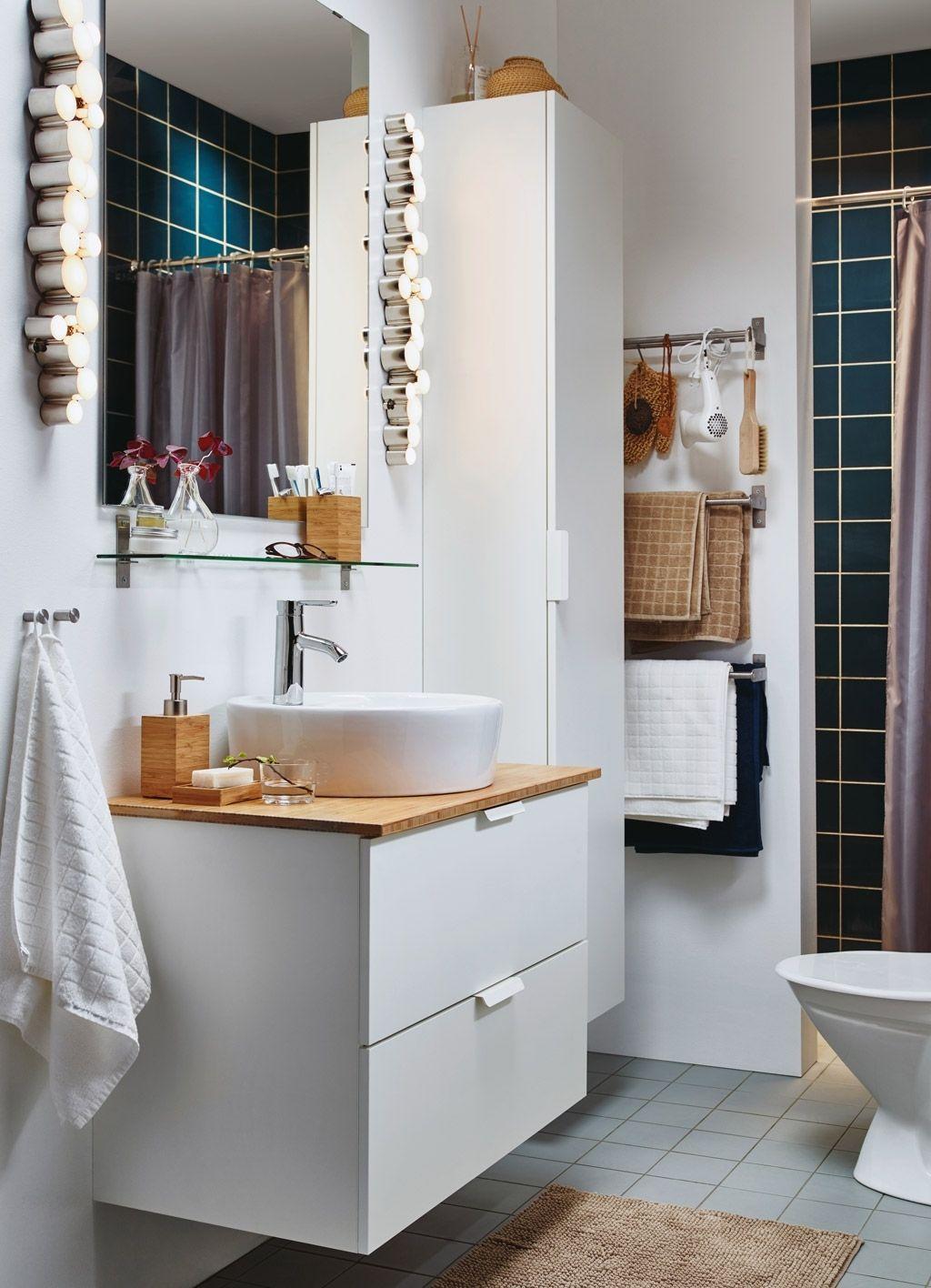 Waschbeckenunterschrank Ikea Weiß