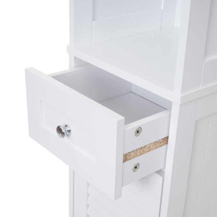 Waschbeckenunterschrank Landhaus Weiß