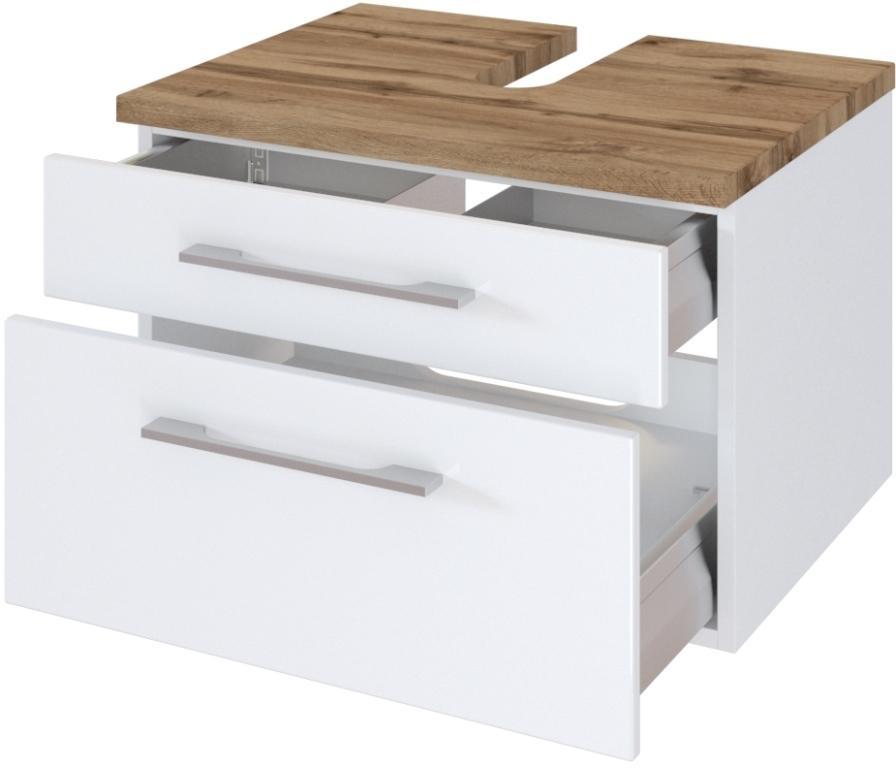 Waschbeckenunterschrank Mit Schubladen 60 Cm Breit