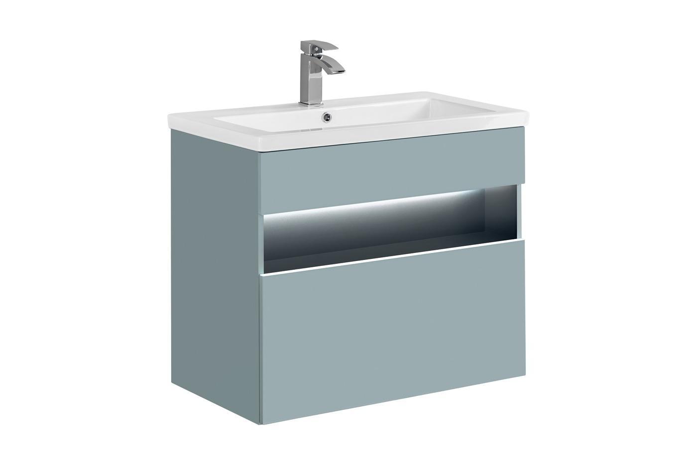 Waschbeckenunterschrank Mit Waschbecken 80 Cm Breit