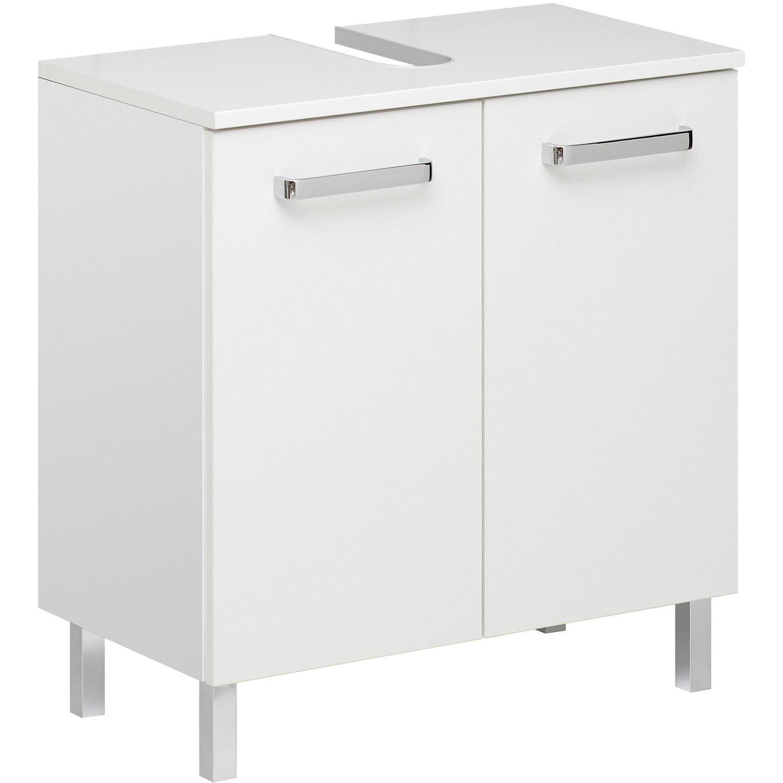 Waschbeckenunterschrank Weiß Hochglanz 60 Cm