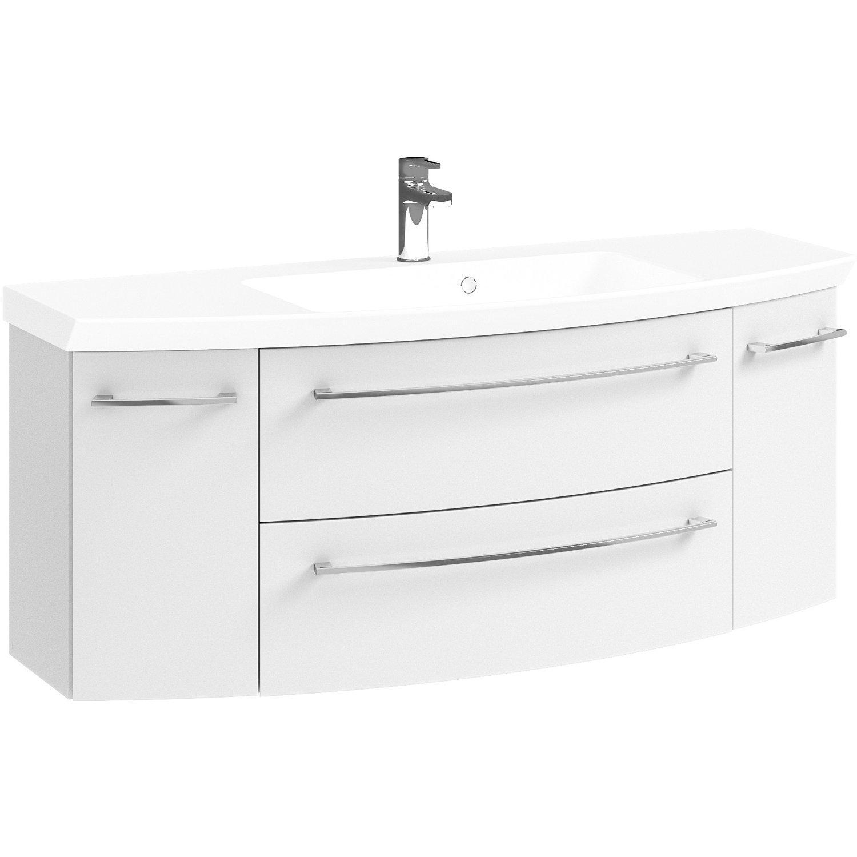 Waschbeckenunterschrank Weiß Hochglanz