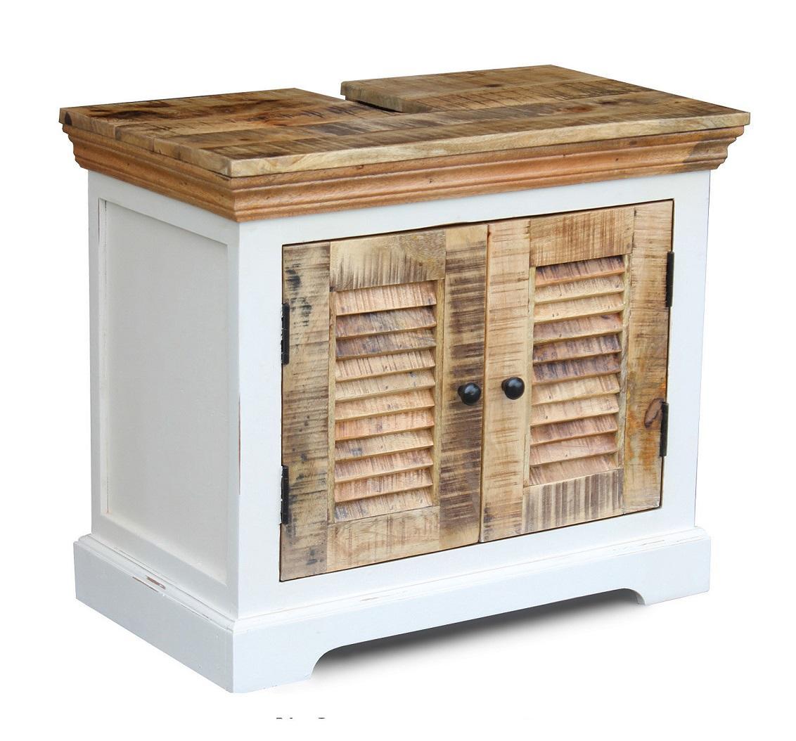 Waschbeckenunterschrank Weiß Holz