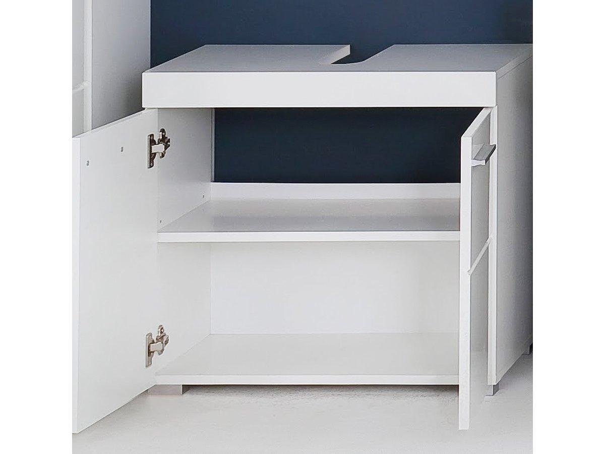 Waschbeckenunterschrank Weiss Grau