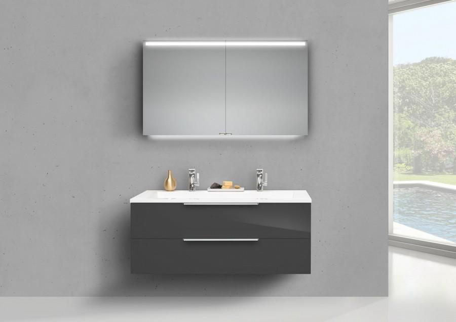 Waschtisch 130 Cm Mit Unterschrank Und Spiegelschrank