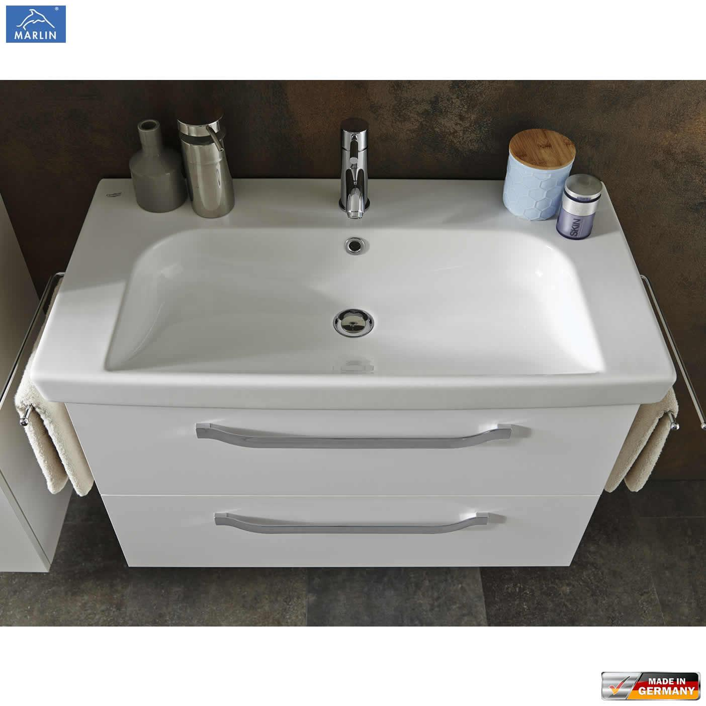 Waschtisch 85 Cm Mit Unterschrank Und Spiegelschrank
