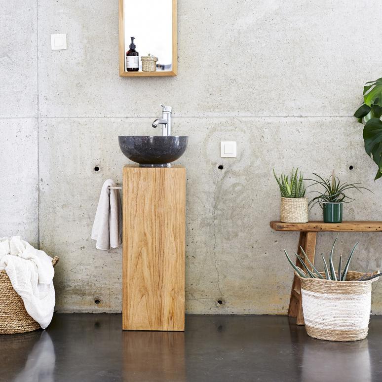 Waschtisch Badezimmer Holz