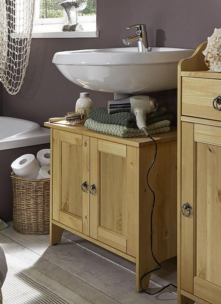 Waschtischunterschrank Massivholz Für Aufsatzwaschbecken