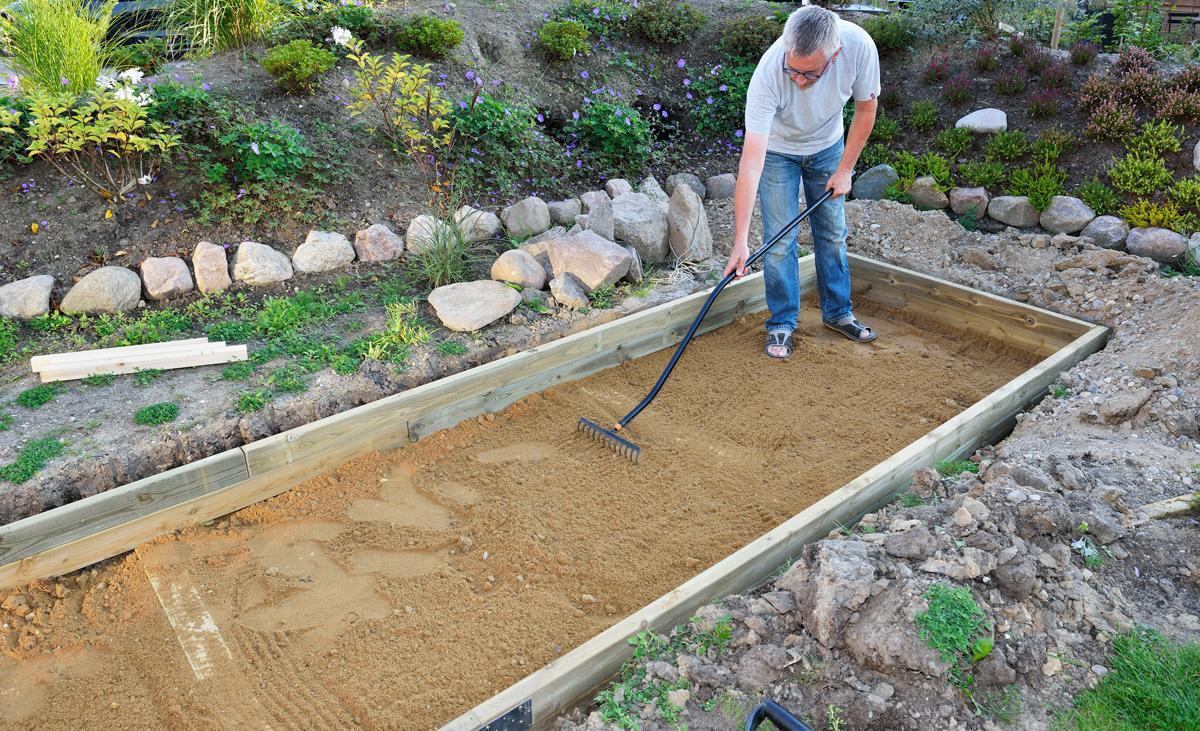 Wasserbecken Garten Stein