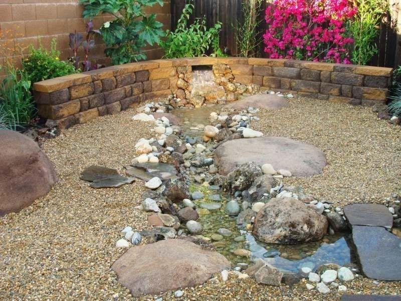 Wasserlauf Garten Kinder