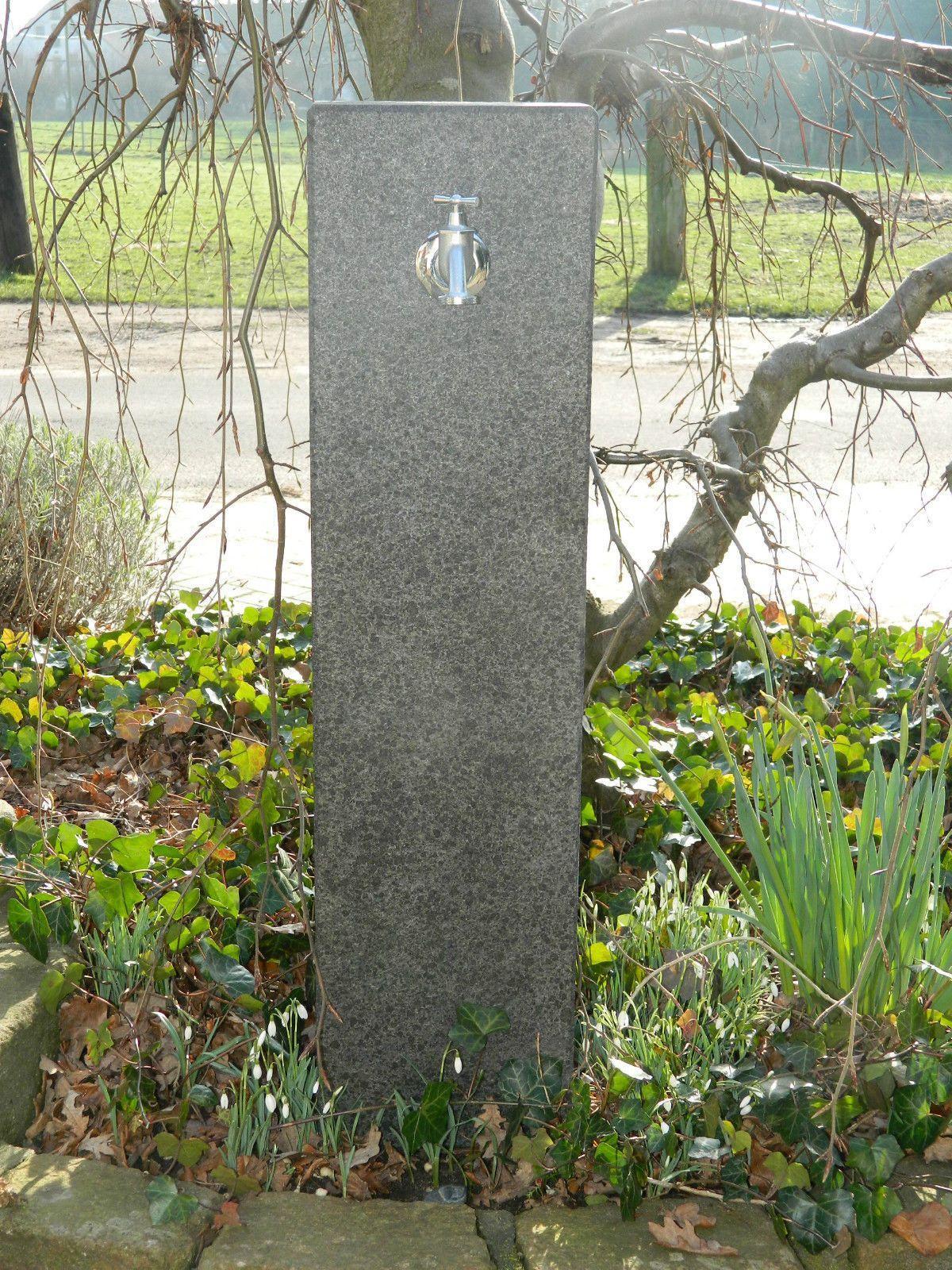 Wassersäule Garten Granit