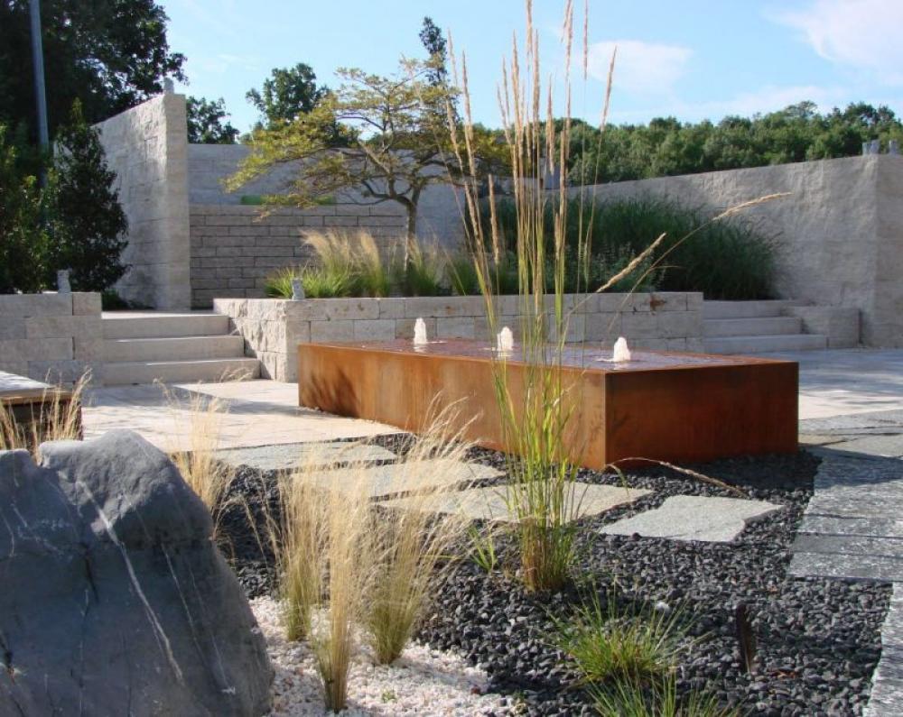 Wasserwand Garten Solar