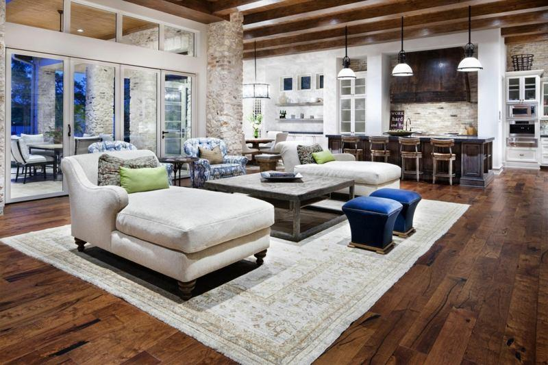 Weiß Wohnzimmer Landhausstil Modern