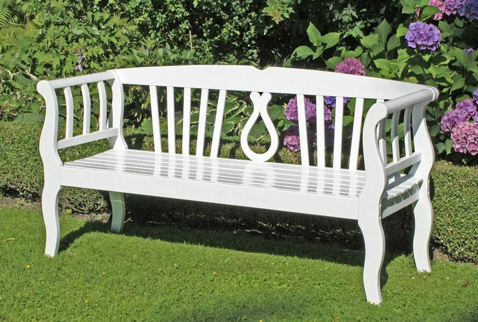 Weiße Gartenbank Holz
