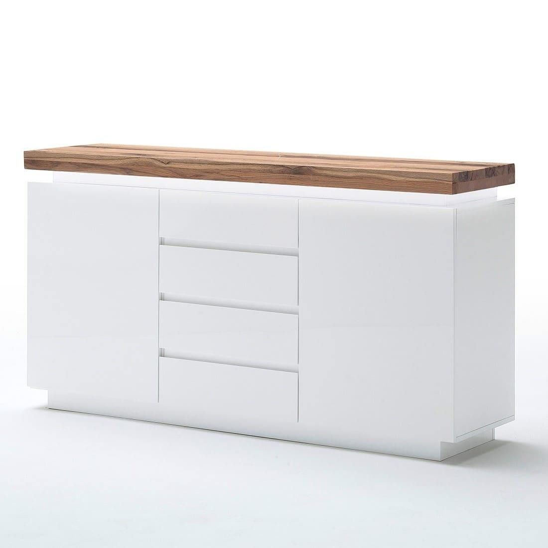 Weiße Kommode Mit Holzplatte
