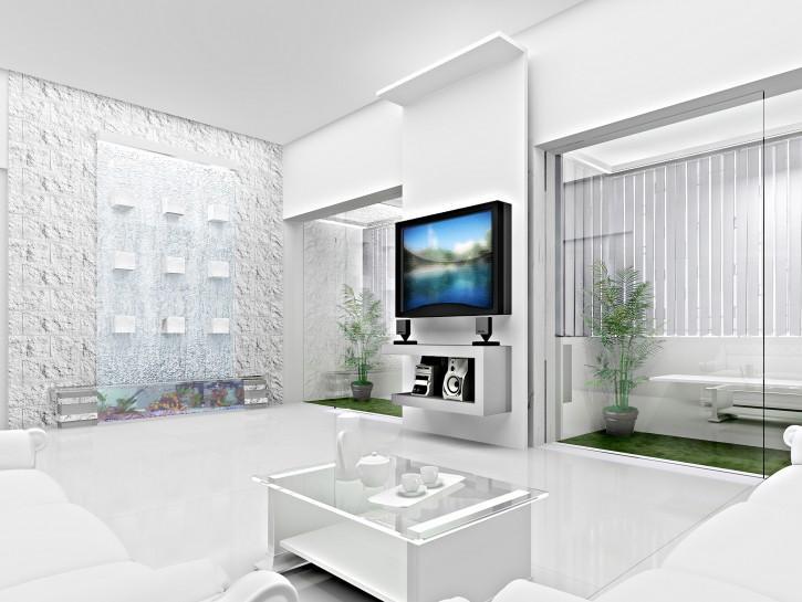Weiße Möbel Mit Holz Wohnzimmer