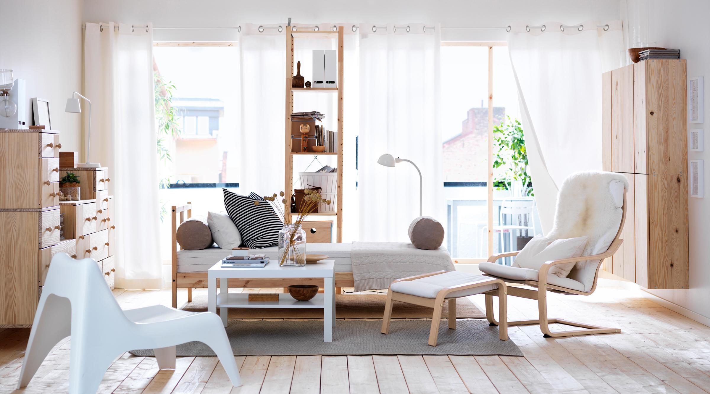 Weiße Möbel Wohnzimmer Ikea