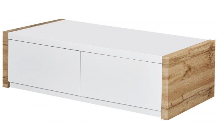 Weißer Couchtisch Mit Holzplatte