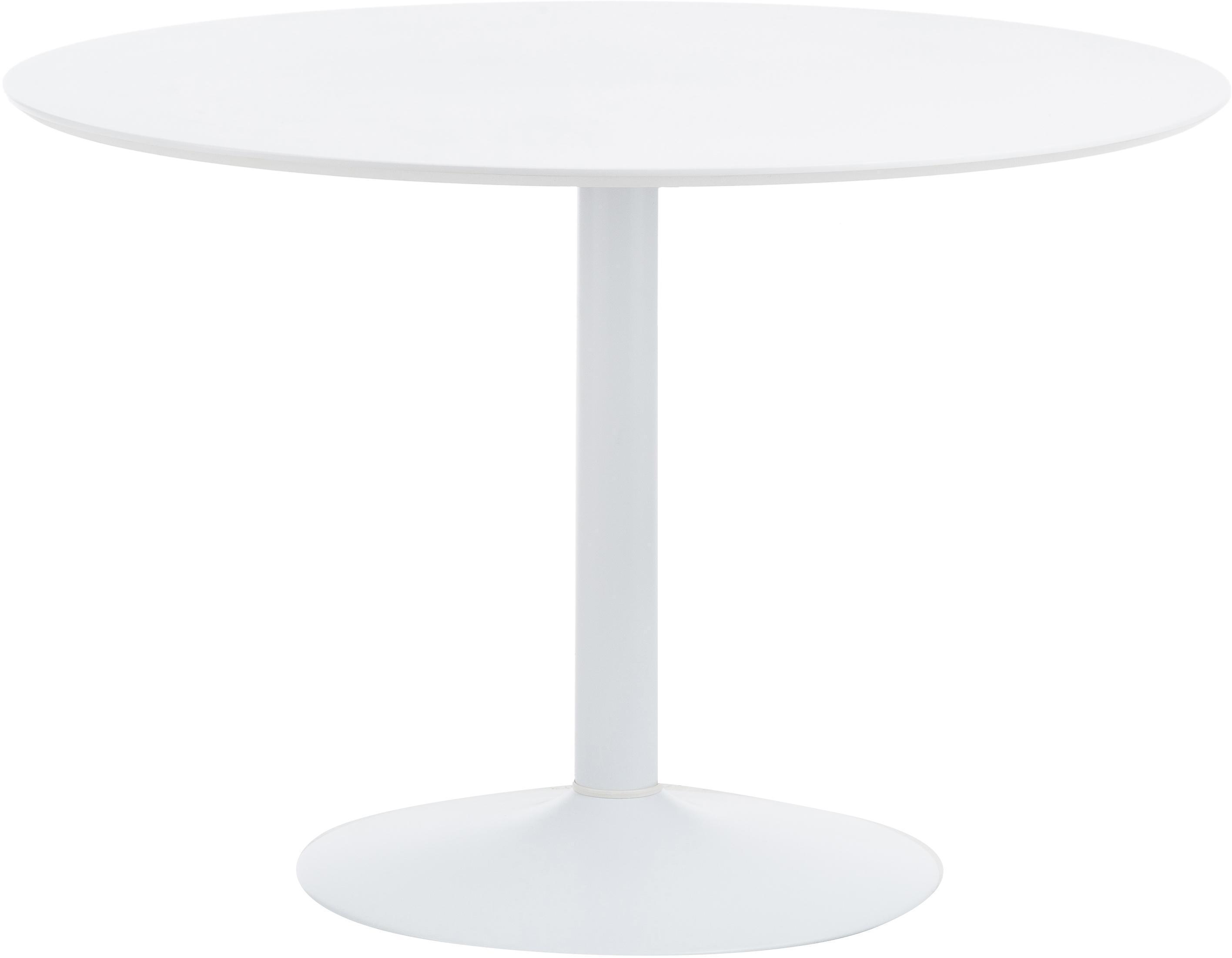 Weißer Esstisch Mit Schwarzen Beinen