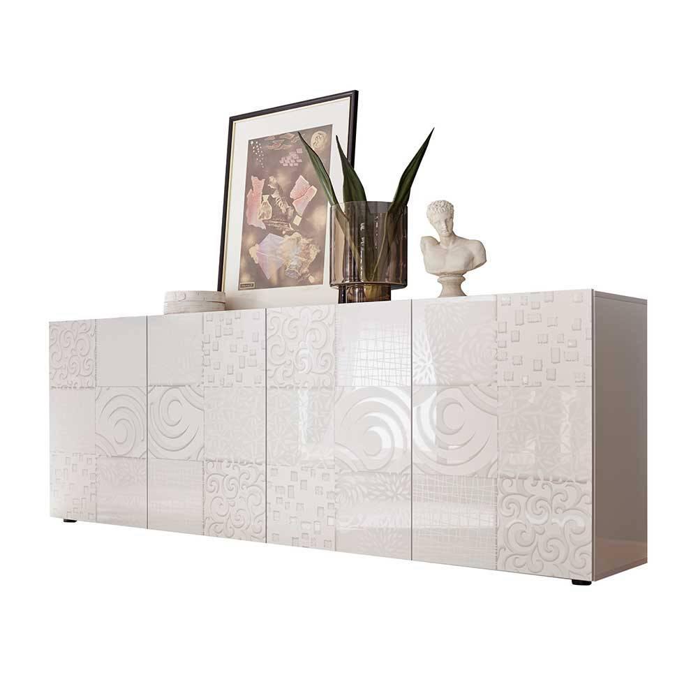 Weißes Sideboard Mit Holzplatte