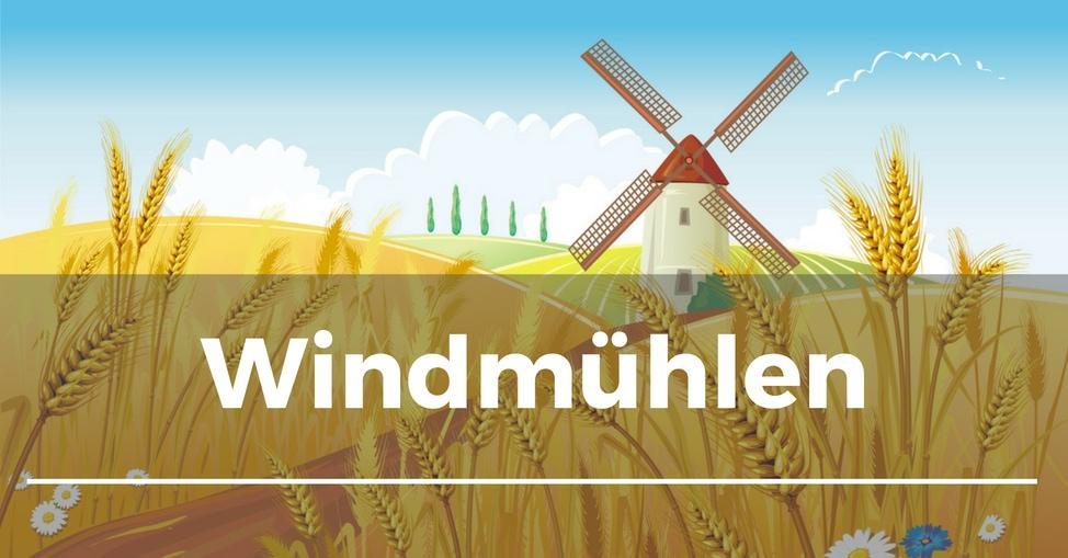 Windmühlen Für Den Garten Aus Kunststoff