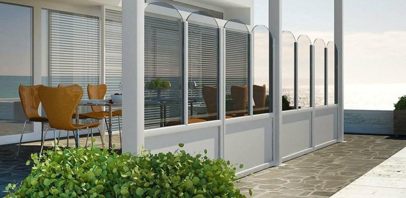 Windschutz Garten Glas