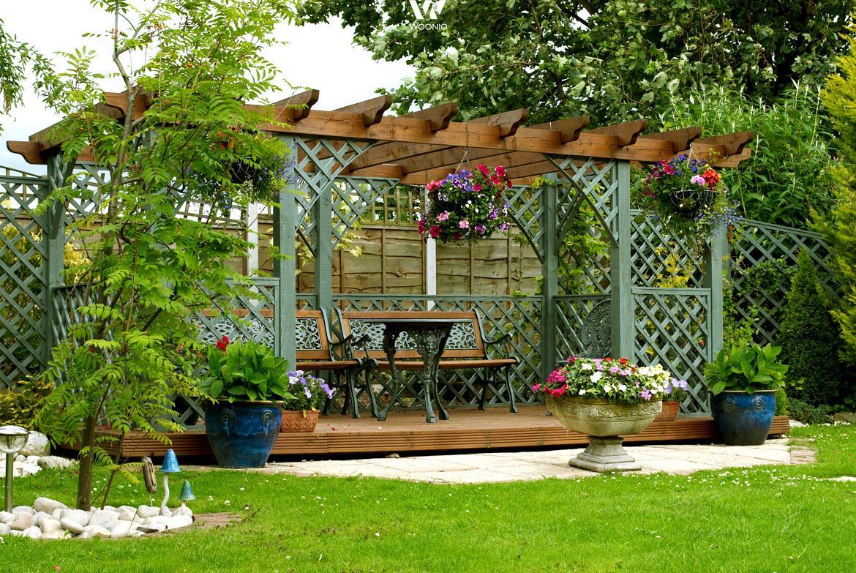Windschutz Garten Ideen