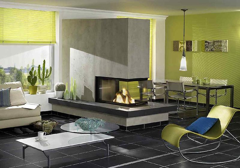 Wohnbeispiele Wohnzimmer Wandgestaltung