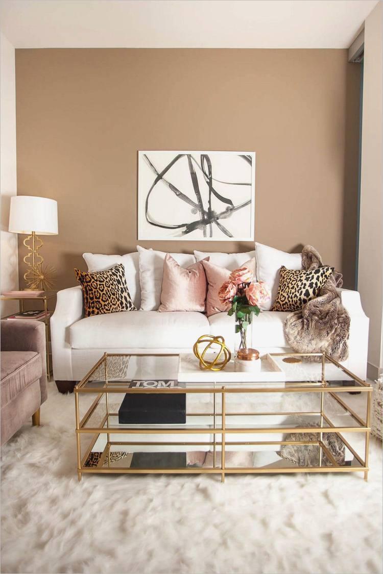 Wohnideen Wohnzimmer Grau Gold
