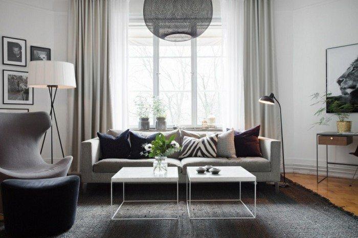 Wohnideen Wohnzimmer Schwarz Weiß Grau