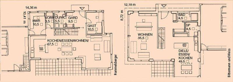 Wohnküche Ideen Grundriss
