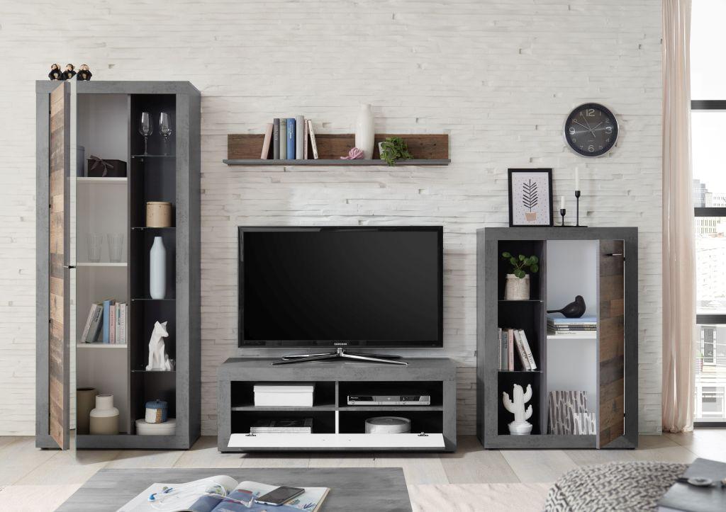 Wohnwand Modern Grau