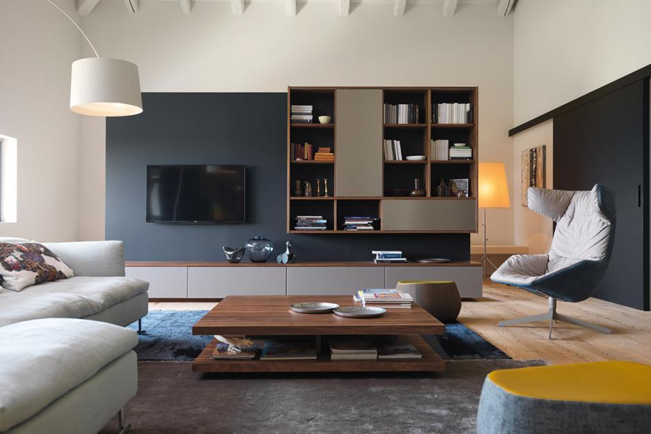 Wohnwand Modern Mit Kamin