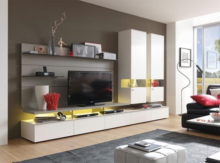 Wohnwand Modern Viel Stauraum