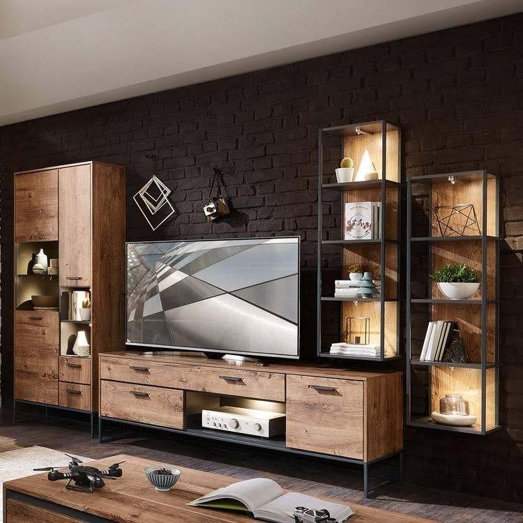 Wohnwand Raumteiler Tv