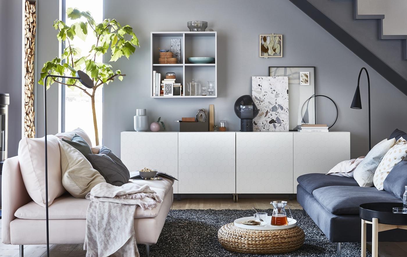 Wohnwand Weiß Holz Ikea