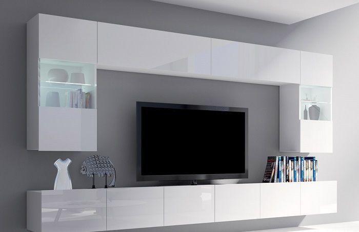 Wohnwand Weiß Modern