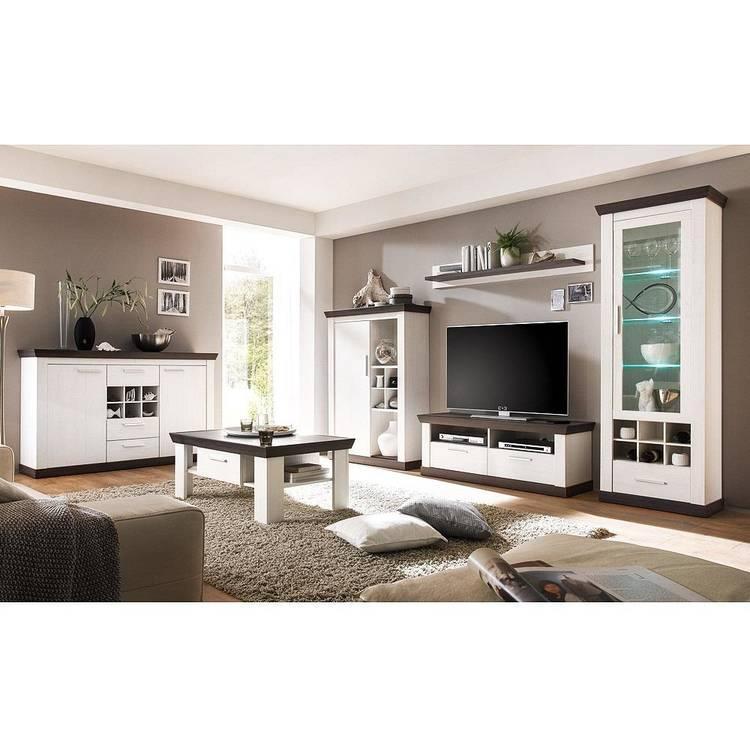 Wohnwand Wohnzimmer Weiß