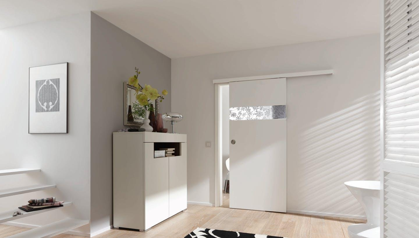 Wohnzimmer Altbau Schiebetür Holz