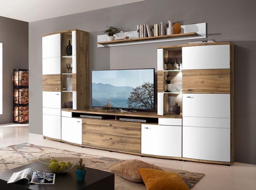 Wohnzimmer Anbauwand Weiß