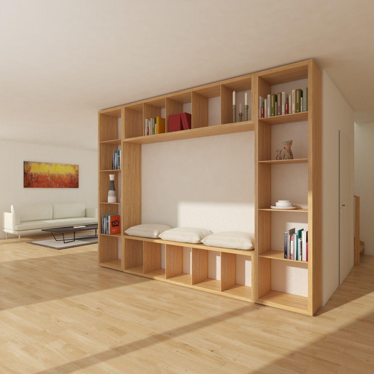 Wohnzimmer Bücherregal Diy