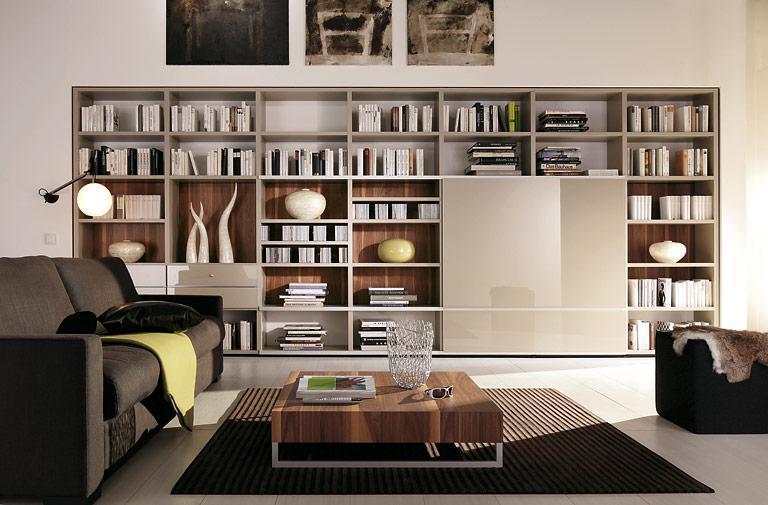 Wohnzimmer Bücherregal Wand