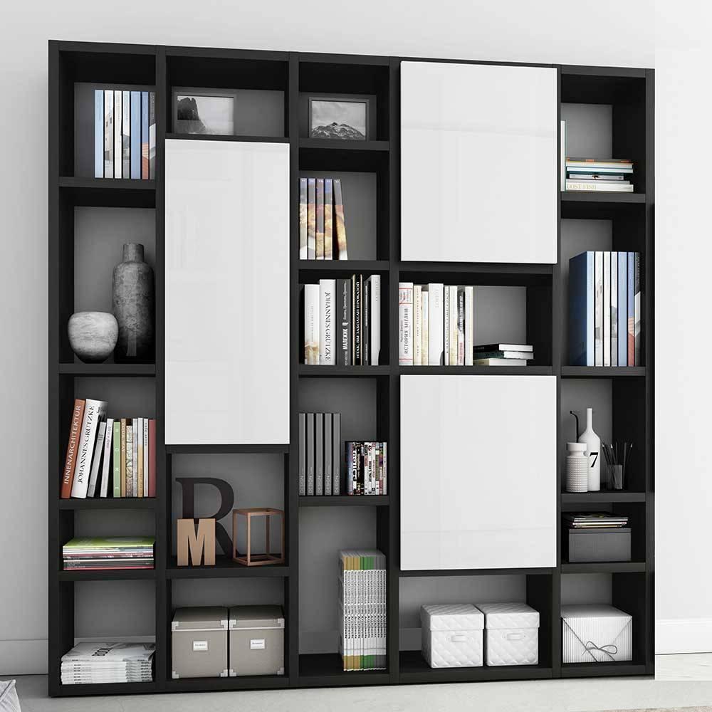 Wohnzimmer Bücherregal Weiß
