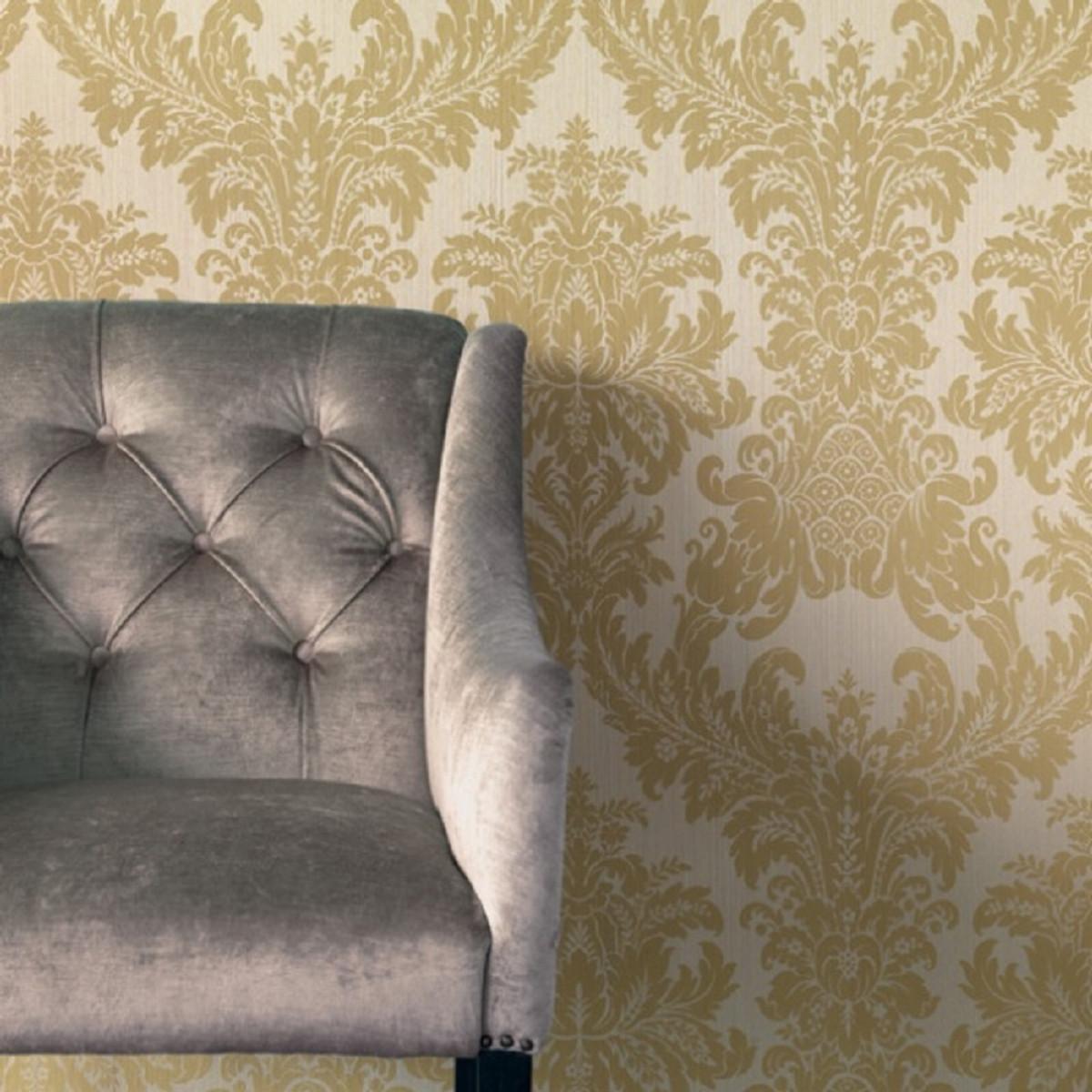Wohnzimmer Barock Tapete Gold