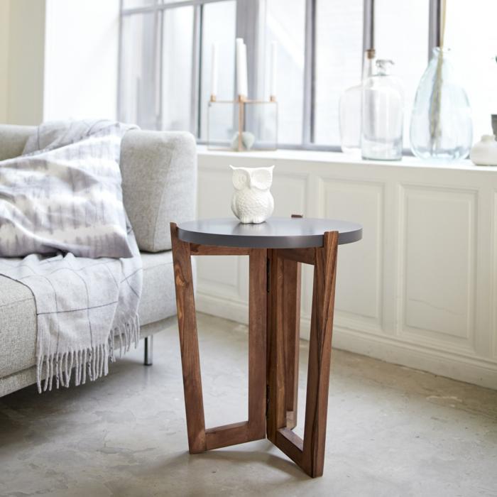 Wohnzimmer Beistelltisch Holz