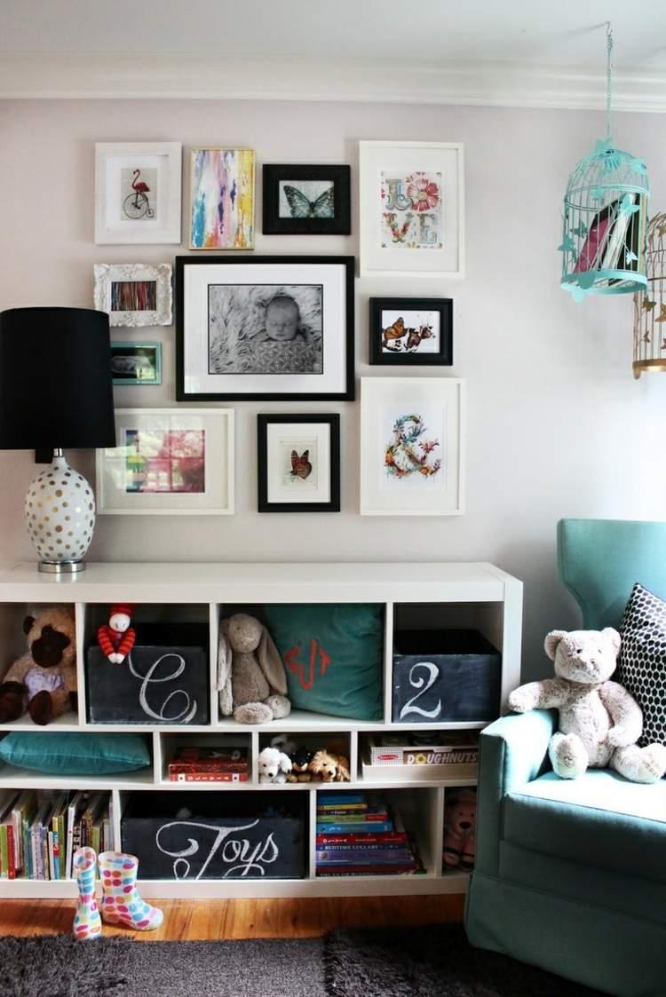 Wohnzimmer Bilderwand Gestalten Ideen