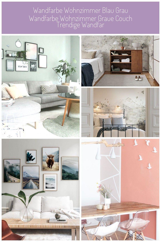 Wohnzimmer Blau Grau